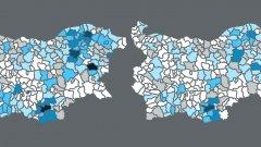 Преди и след: резултатите на ДПС на парламентарните избори през 2014 и 2017 г. по общини