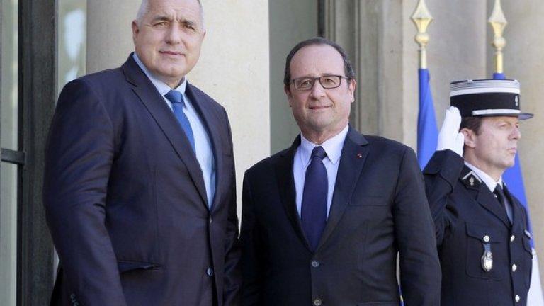 """По отношение на приемането на България в Шенген, президентът дипломатично каза, че ще бъде намерен добър баланс. """"Ние сме добре запознати с откритото географско положение на България и имаме интерес да използваме Шенген по най-добрия начин"""", заяви президентът на Франция"""