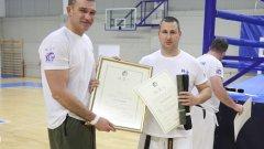 Родни каратеки получиха по-висока степен и сертификати