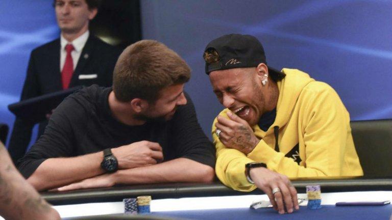Бразилецът се появи в каталунската столица, за да участва в турнир по покер като част от спонсорския договор, който има с Poker Stars.