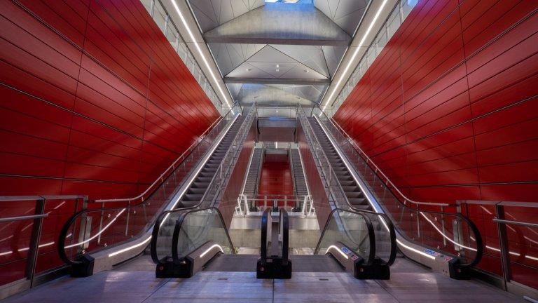 Новата линия на метрото в Копенхаген се слави с красивите си станции