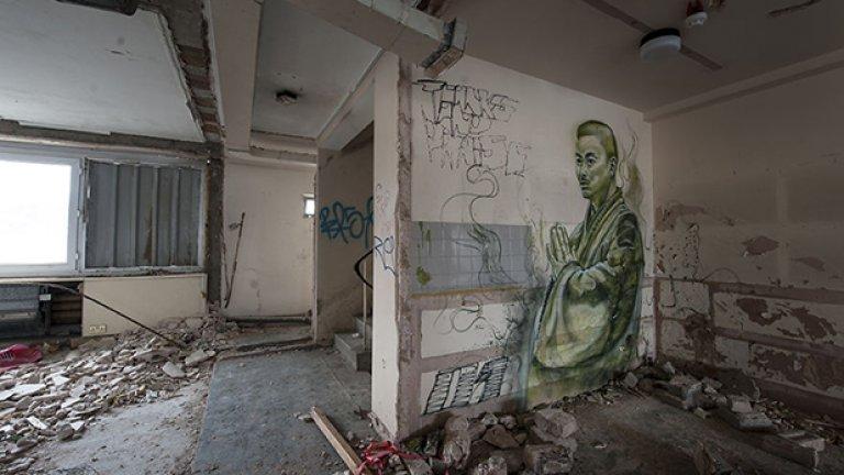 В този хотел само стените са живи