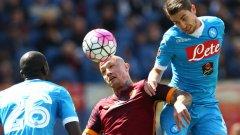 Наполи посреща Рома в дерби, което нито един от двата отбора не може да си позволи да загуби