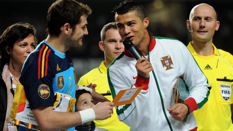 Благодарение на фигури като Роналдо португалците вече излязоха от сянката на големия съсед. Но това близо 100-годишно футболно съперничество започва с тотална доминация на Испания...