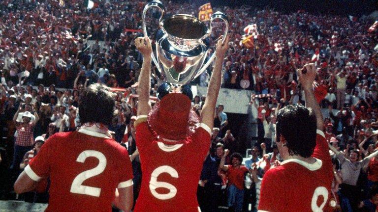 Ливърпул печели първата си европейска титла през 1977-а след победа над Борусия Мьонхенгладбах в Рим.
