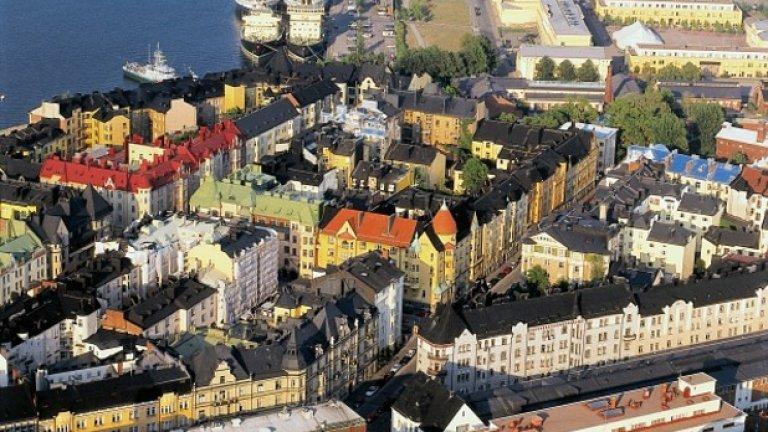 """9. Хелзинки, Финландия  Столицата на Финландия събира общо 95,6 точки. Те се разпределят по категории: """"сигурност"""" - 100; """"здравеопазване"""" - 100; """"култура и околна среда"""" - 88,7; """"образование"""" - 91,7; """"инфраструктура"""" - 96,4."""