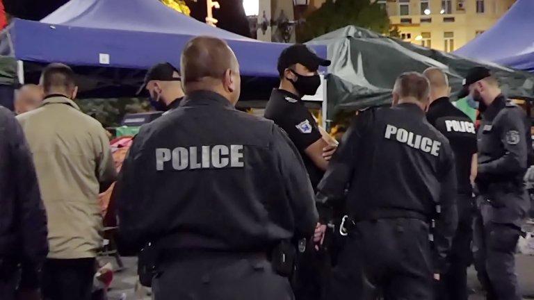 Полицията и жандармерията премахнаха палатковите лагери в страната