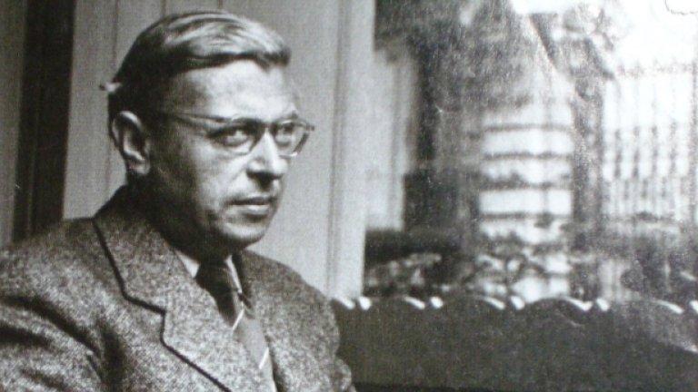 Жан-Пол Сартър в момент на избор