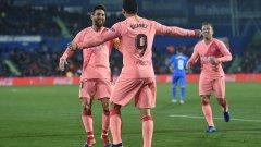 Впечатляващ е комбинираният рекорд между Меси и Суарес, които имат 28 попадения - повече от 16 от тимовете в Ла Лига след 18 кръга.