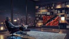 LG Signature OLED TV R  Дългоочакваният сгъваем OLED телевизор вече е тук - по-точно, ще бъде наличен на пазара през втората половина на 2019 г., като цената му тепърва ще бъде обявена. 65-инчовият екран на LG се свива на ролка в основата си при изключване и се разтваря, когато желаете да го гледате. Прототипът беше представен на CES още миналата година, но сега вече е готов за масово производство.