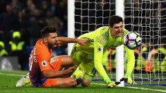 Индивидуална грешка на Тибо Куртоа доведе до гола на Агуеро за 1:1, но Челси бързо си върна преднината и удържа победата. Ето пет извода от снощния мач...