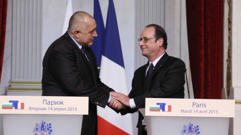 """""""Франция винаги се е намесвала във важни за България моменти, когато трябва да се даде репер за развитие"""", каза Бойко Борисов"""