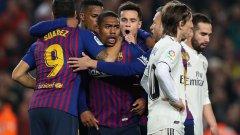 Малком изигра добър мач за Барселона и отбеляза изравнителния гол