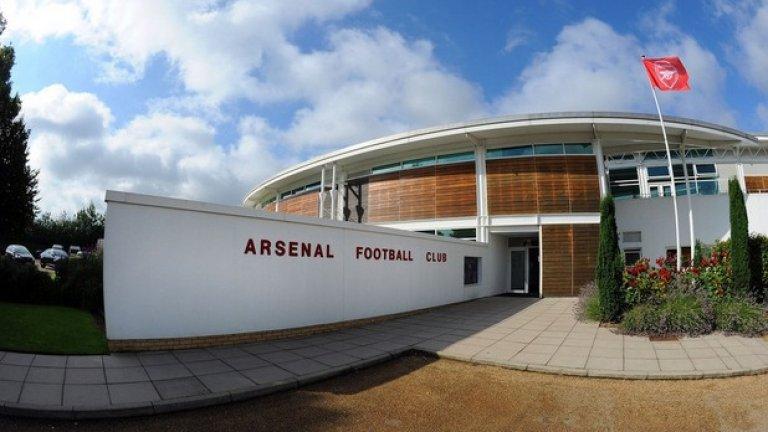 Националният отбор на Англия често тренира на базата на Арсенал.