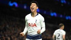 Хюн-Мин Сон накара стадиона да изригне с единствения гол в мача, първи в Шампионската лига на новия стадион на Тотнъм