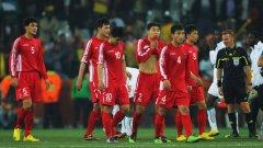 Част от наказаните футболни национали на Северна Корея