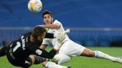 Асенсио напомни за себе си, Реал се качи на върха с разгром
