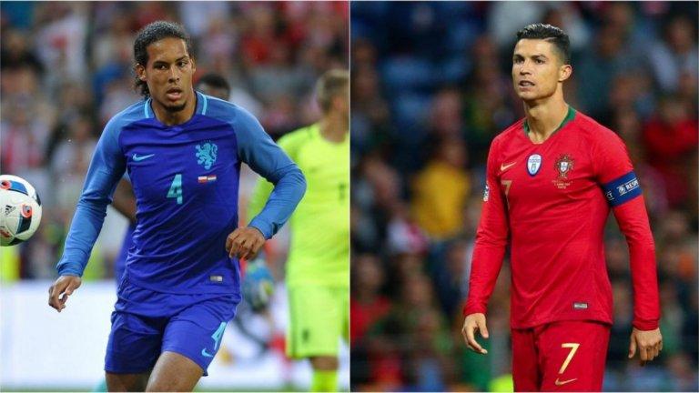 За дебютното издание на Лигата на нациите това е мечтан финал - и суперсблъсък между големия Кристиано Роналдо и най-добрия защитник в света в момента Върджил ван Дайк