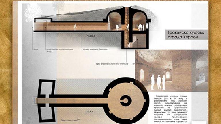 Тракийският храм Хероон е посветен на обожествен след смъртта си владетел