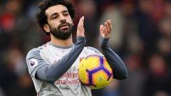 """В събота Мохамед Салах си тръгна с топката от """"Виталити Стейдиъм"""" след като отбеляза три от попаденията при разгромния успех на Ливърпул с 4:0 над домакините от Борнемут."""
