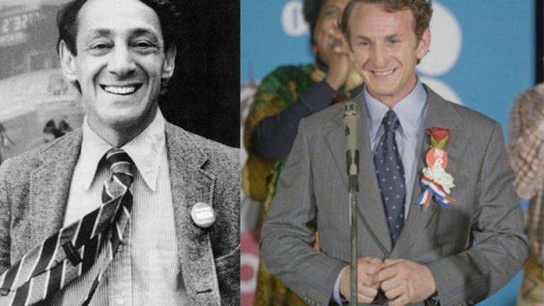 """Харви Милк и Шон Пен, """"Милк""""  Шон Пен е неузнаваем в гей-превъплъщението си. Героят му е толкова обаятелен, че борбата му за равноправие надскача гей-общността и се превръща се в борба за толерантност изобщо."""