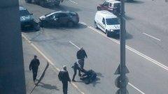 Снимка от инцидента беше публикувана от потребител във Facebook