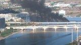 Товарен влак с опасни химикали катастрофира на мост в Аризона