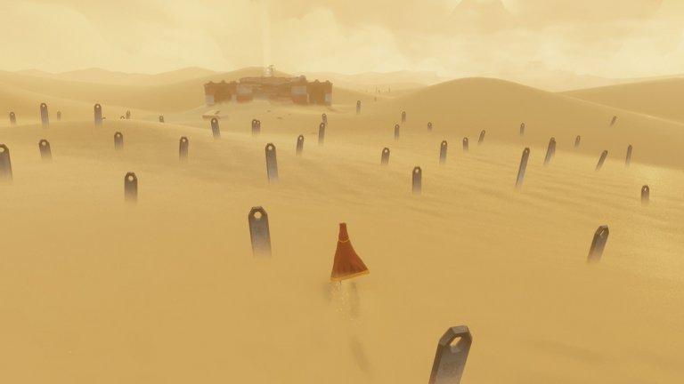 Journey (PS3, PS4)  Thatgamecompany – авторите на Flower и flOw – затвърдиха уменията си да създават минималистични и завладяващи игри с инди заглавието Journey, което излезе през 2012 г. Journey не е играта в познатата ни форма на тази дума; това по-скоро е интерактивно изживяване. То представя историята на безименен герой, бродещ бавно, но уверено из изпепеляващите дебри на пустинята.   Заглавието дори няма диалог. Ако играете в онлайн, може да срещнете непознат играч, но няма да можете дори да общувате с него. Тук всеки има собствен път и точно заради това тази игра е просто очарователна в своята простота. Своята механична простота Journey компенсира с невероятната си хармония, примирението със себе си, музиката, визуалния стил и, разбира се, усещанията за общуване без думи.   Всичко това е събрано в един компактен пакет от звуци и багри, който може да изиграете само за няколко часа и на един дъх. Journey стана и най-продаваната PSN игра при дебюта си, което е още една атестация за качествата й.