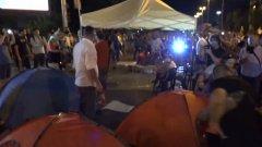При вдигането на блокадата сутринта са арестувани трима души