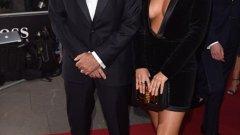 Моуриньо и дъщеря му Матилде преди началото на церемонията на списание GQ