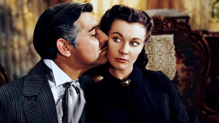 """Отнесени от вихъра / Gone with the Wind - 13 номинации през 1940 г.  Няма начин да не сте чували за този филм, дори и никога да не сте събирали смелост да изгледате 4-часовата продукция от 1939 г. Истинска класика с участието на Кларк Гейбъл и Вивиан Лий, това е един от историческите първенци в класацията - 13-те му номинации са рекорд за времето си. Наред с осемте награди, """"Отнесени от вихъра"""" получава и две почетни статуетки - за изключителни постижения в цветното кино и за пробив в използването на координирана техника."""