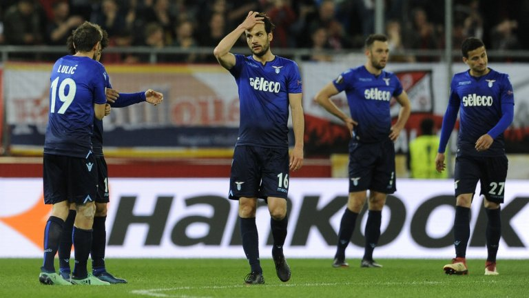 Футболистите на Лацио не могат да повярват какво им се случи през второто полувреме на гостуването в Австрия