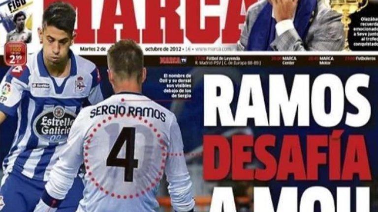 """""""Мразех го, въпреки че го обожавах!"""": Когато Рамос облече фланелката на Йозил под своята"""