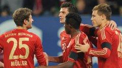 Марио Гомес вкара дежурния си гол за Байерн