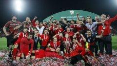 ЦСКА стана първият отбор от В група, спечелил Купата на България Снимки: LAP.bg