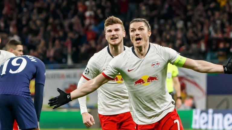 Капитанът Забицер отбеляза двата гола преди почивката, след които Тотнъм вече нямаше никакви надежди да обърне развоя
