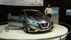 Nissan Sway е единственият концептуален модел на автомобилното изложение в София