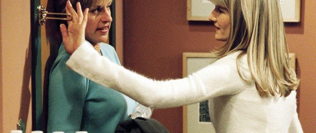 """Кадър от сериала """"Елън"""", вървял между 1994 и 1998 г."""