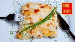Лазаня с пиле, спанак и сос бешамел със сирене