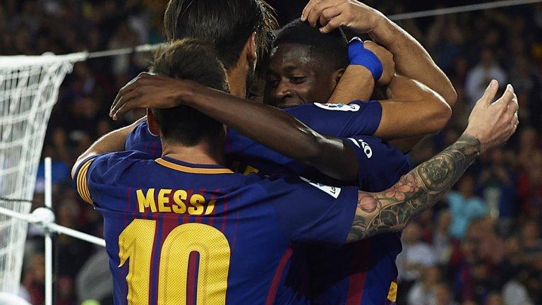 Усман Дембеле спаси Барселона от загуба в Мадрид