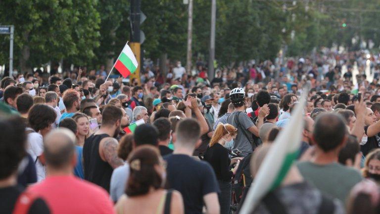 Впоследствие протестът се премести към Орлов мост, където демонстрантите блокираха движението.