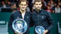 Григор Димитров търси първа победа срещу Роджър Федерер