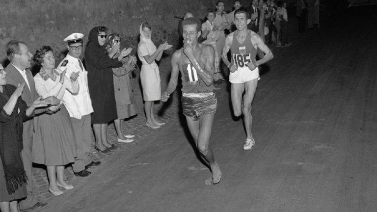 7. Рим 1960: Няма смисъл от обувки На Олимпиадата етиопецът Абебе Бекила пробягва маратона бос. Въпреки всички обувки, изпратени му от adidas, той бяга бос, тъй като точно по такъв начин се е готвил за Игрите.