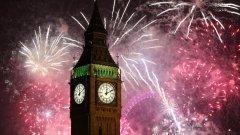 Нова година в Лондон. Вижте в  галерията как и други столици и големи градове посрещнаха 2015-та година.