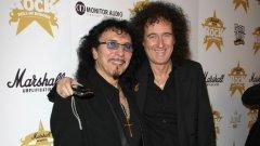 Ако някой може да те вдъхнови да композираш, това са именно китаристите на Black Sabbath Тони Айоми (вляво) и на Queen Браян Мей.