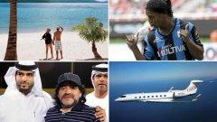 От личен самолет до имение с изглед към Корсика