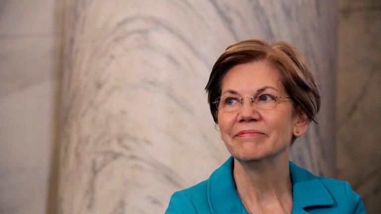 Елизабет Уорън (Масачузетс) Сенаторът от Масачузетс доскоро беше основен претендент на Байдън за първото място, но в последните месеци подкрепата за нея разко спада. Тя е един от най-левите кандидати в надпреварата, задминащава в идеите си дори и Бърни Сандърс. В момента тя има подкрепата на около 14 процента от демократите и букмейкърите определят шансовете и на 1 към 20 (17 процента).