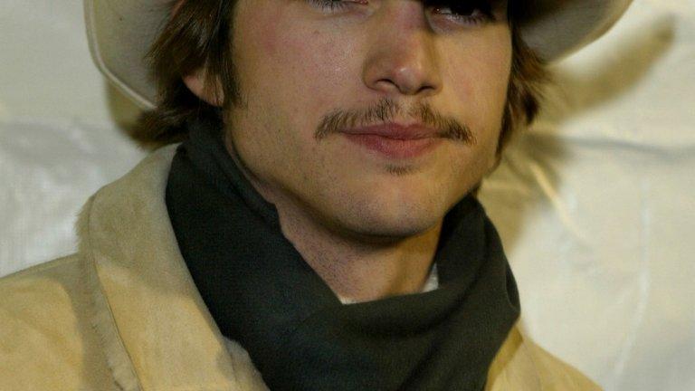 Аштън Къчър преди (2004 г.).