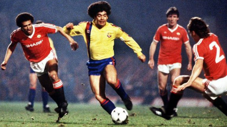 Мачовете с Юнайтед през 1984-та са началото на края на Марадона в Барселона.