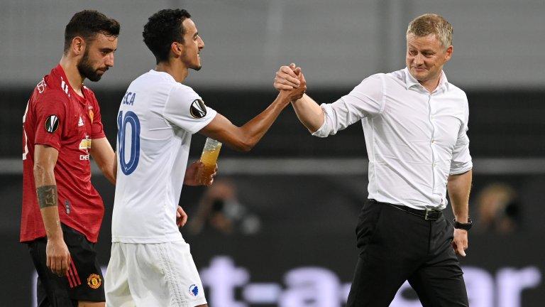 Защо капитанът на Копенхаген благодари на Солскяер след загубата от Юнайтед (видео)